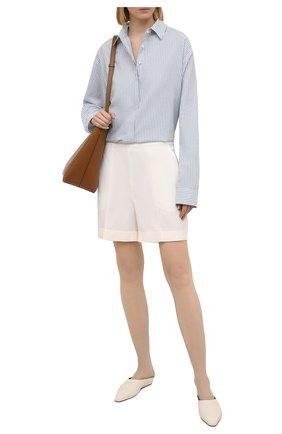 Женские хлопковые шорты TEGIN светло-бежевого цвета, арт. SP2156 | Фото 2