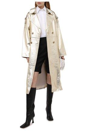 Женский кожаный плащ YVES SALOMON золотого цвета, арт. 21WYM20819APXX | Фото 2