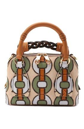 Женская сумка daria small CHLOÉ коричневого цвета, арт. CHC21SS361E10 | Фото 1