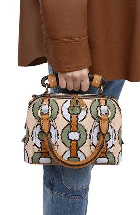 Женская сумка daria small CHLOÉ коричневого цвета, арт. CHC21SS361E10 | Фото 2