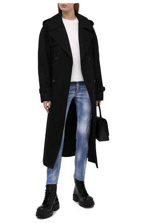 Женские джинсы DSQUARED2 голубого цвета, арт. S75LB0504/S30342 | Фото 2