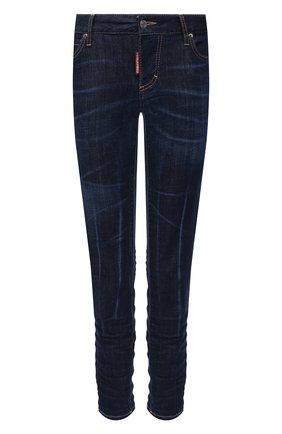 Женские джинсы DSQUARED2 темно-синего цвета, арт. S72LB0401/S30342 | Фото 1