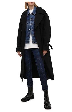 Женские джинсы DSQUARED2 темно-синего цвета, арт. S72LB0401/S30342 | Фото 2