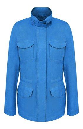 Женская льняная куртка LORO PIANA синего цвета, арт. FAF6362 | Фото 1