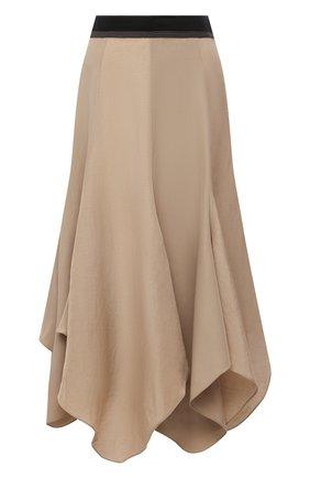 Женская юбка из вискозы и льна LOEWE бежевого цвета, арт. S540Y08X24 | Фото 1