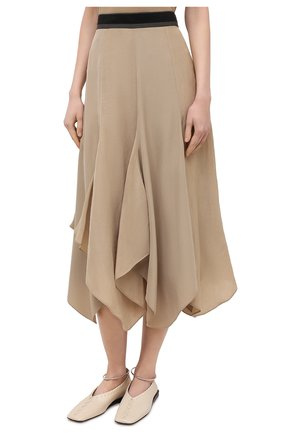 Женская юбка из вискозы и льна LOEWE бежевого цвета, арт. S540Y08X24 | Фото 3