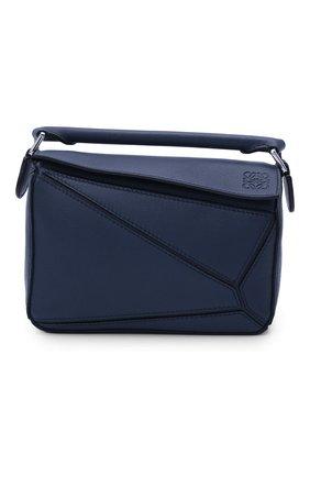 Женская сумка puzzle mini LOEWE синего цвета, арт. 322.30.U95 | Фото 1