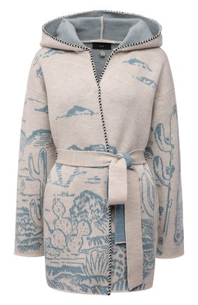 Женский шерстяной кардиган ALANUI светло-бежевого цвета, арт. LWHB047S21KNI001   Фото 1