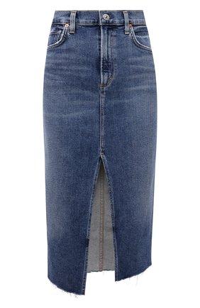 Женская джинсовая юбка CITIZENS OF HUMANITY синего цвета, арт. 3155-1295 | Фото 1