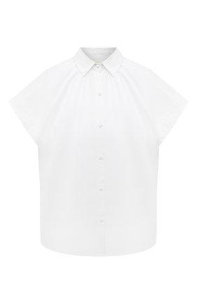 Женская хлопковая рубашка CITIZENS OF HUMANITY белого цвета, арт. 9176-741   Фото 1 (Материал внешний: Хлопок; Длина (для топов): Стандартные; Рукава: Короткие; Женское Кросс-КТ: Рубашка-одежда; Принт: Без принта; Стили: Кэжуэл)