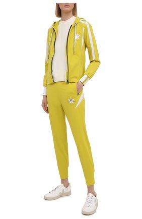 Женские джоггеры LORENA ANTONIAZZI желтого цвета, арт. P2156PA092/2566 | Фото 2