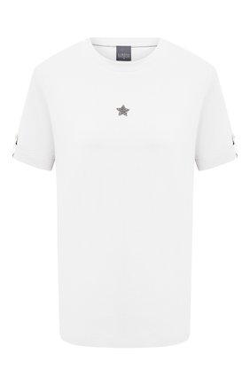 Женская хлопковая футболка LORENA ANTONIAZZI белого цвета, арт. P2155TS024/9999   Фото 1