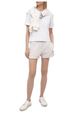 Женская хлопковая футболка LORENA ANTONIAZZI белого цвета, арт. P2155TS024/9999   Фото 2