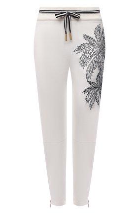 Женские хлопковые брюки LORENA ANTONIAZZI белого цвета, арт. P2139PA011/3187 | Фото 1