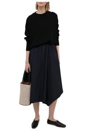 Женская хлопковая юбка LORENA ANTONIAZZI темно-синего цвета, арт. P2133G0024/3434 | Фото 2