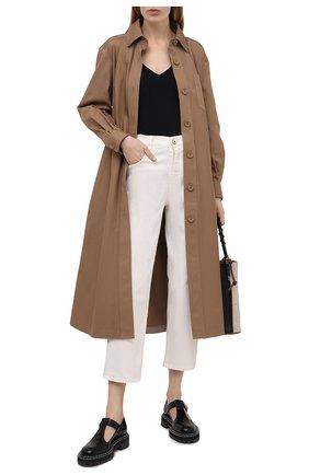 Женские джинсы LORENA ANTONIAZZI светло-бежевого цвета, арт. P2130PA019/3197 | Фото 2