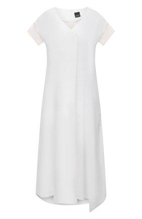 Женское платье из льна и вискозы LORENA ANTONIAZZI белого цвета, арт. P2125AB004/3347   Фото 1