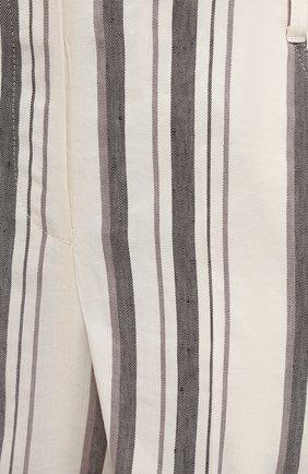 Женские шорты из льна и вискозы LORENA ANTONIAZZI кремвого цвета, арт. P2121PA098/3390   Фото 5 (Женское Кросс-КТ: Шорты-одежда; Длина Ж (юбки, платья, шорты): Мини; Материал внешний: Вискоза, Лен; Стили: Кэжуэл)