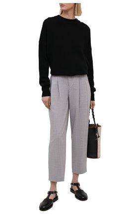Женские шерстяные брюки LORENA ANTONIAZZI светло-серого цвета, арт. P2110PA003/2147 | Фото 2