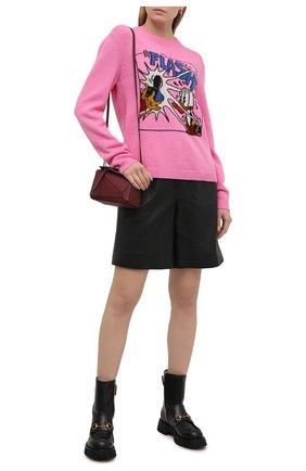 Женский шерстяной свитер disney x gucci GUCCI розового цвета, арт. 652620/XKBSI   Фото 2