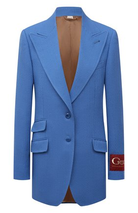 Женский шерстяной жакет GUCCI синего цвета, арт. 652595/ZAF6I | Фото 1