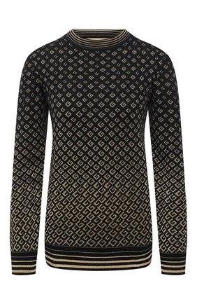 Женский шерстяной пуловер GUCCI черного цвета, арт. 650376/XKB0G | Фото 1 (Материал внешний: Шерсть; Рукава: Длинные; Длина (для топов): Стандартные; Женское Кросс-КТ: Пуловер-одежда; Стили: Кэжуэл)