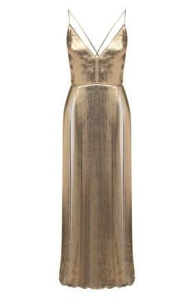 Женское платье VALENTINO золотого цвета, арт. VB3VAVB06AQ | Фото 1