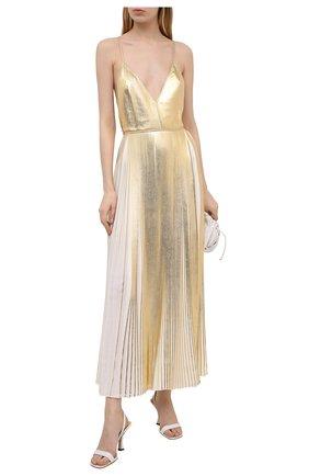 Женское платье VALENTINO золотого цвета, арт. VB3VAVB06AQ | Фото 2