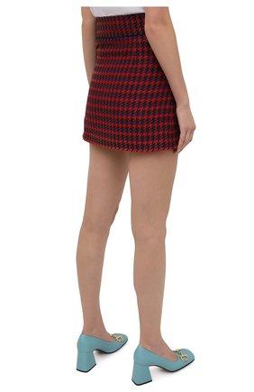 Женская шерстяная юбка GUCCI красного цвета, арт. 643737/ZAGEL | Фото 4