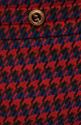 Женская шерстяная юбка GUCCI красного цвета, арт. 643737/ZAGEL | Фото 5