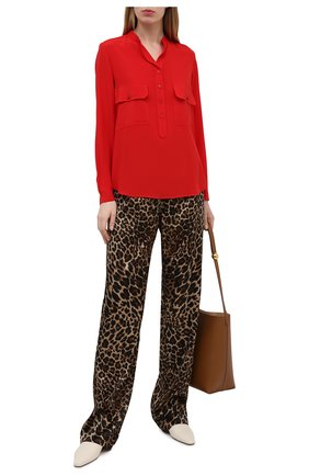 Женская шелковая блузка STELLA MCCARTNEY красного цвета, арт. 531899/SY206 | Фото 2