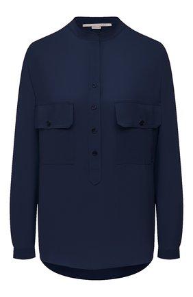 Женская шелковая блузка STELLA MCCARTNEY темно-синего цвета, арт. 531899/SY206 | Фото 1