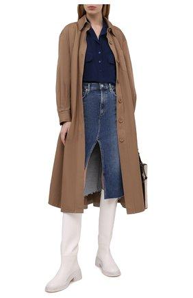 Женская шелковая блузка STELLA MCCARTNEY темно-синего цвета, арт. 531899/SY206 | Фото 2