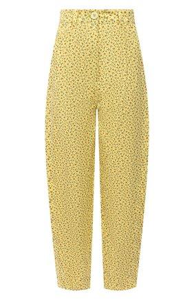 Женские хлопковые брюки VIVETTA желтого цвета, арт. 21E V2M0/B031/0094 | Фото 1