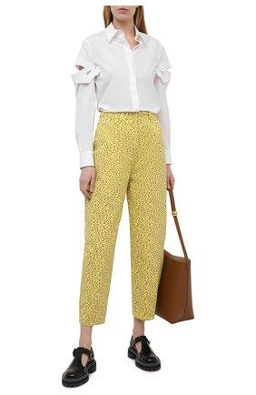 Женские хлопковые брюки VIVETTA желтого цвета, арт. 21E V2M0/B031/0094 | Фото 2