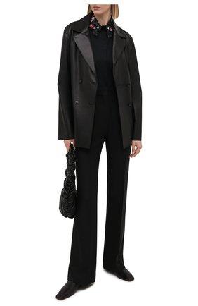 Женская хлопковая рубашка VIVETTA черного цвета, арт. 21E V2M0/G141/0650 | Фото 2