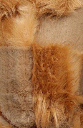 Женская шуба из экомеха STELLA MCCARTNEY светло-коричневого цвета, арт. 602901/SNB45 | Фото 5