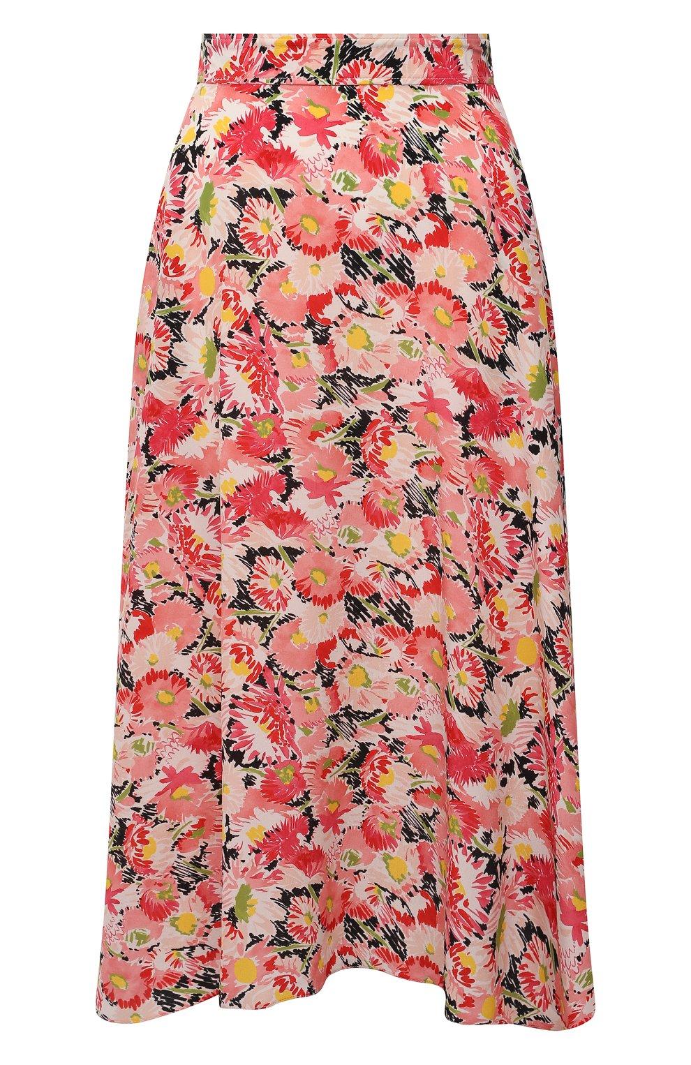 Женская шелковая юбка STELLA MCCARTNEY розового цвета, арт. 602927/SRA27   Фото 1