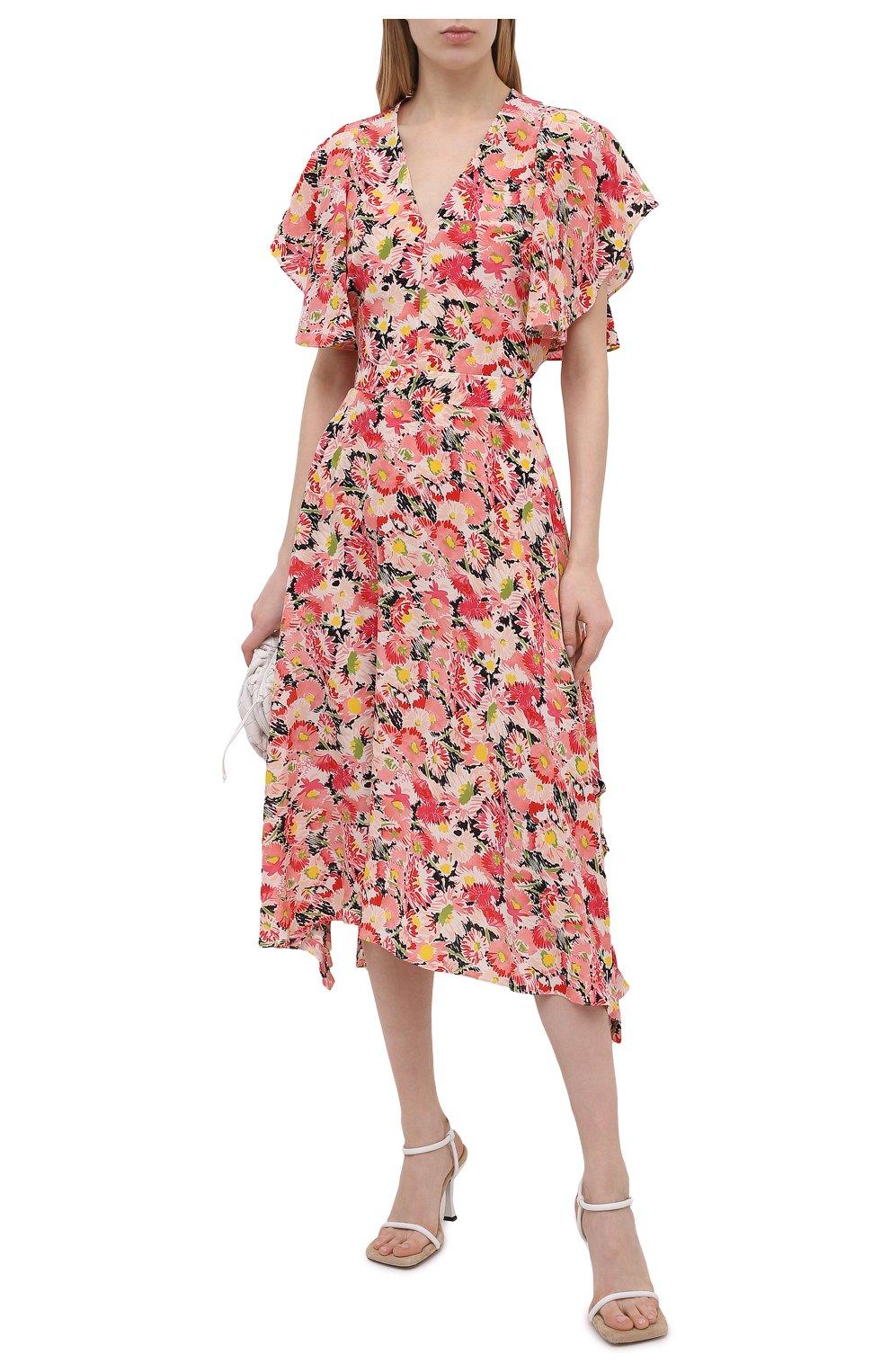 Женская шелковая юбка STELLA MCCARTNEY розового цвета, арт. 602927/SRA27   Фото 2