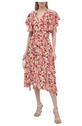 Женская шелковая юбка STELLA MCCARTNEY розового цвета, арт. 602927/SRA27 | Фото 2