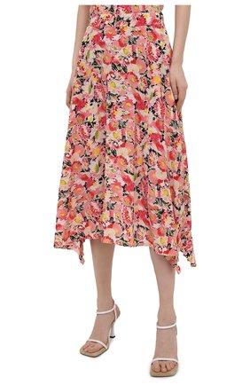 Женская шелковая юбка STELLA MCCARTNEY розового цвета, арт. 602927/SRA27   Фото 3