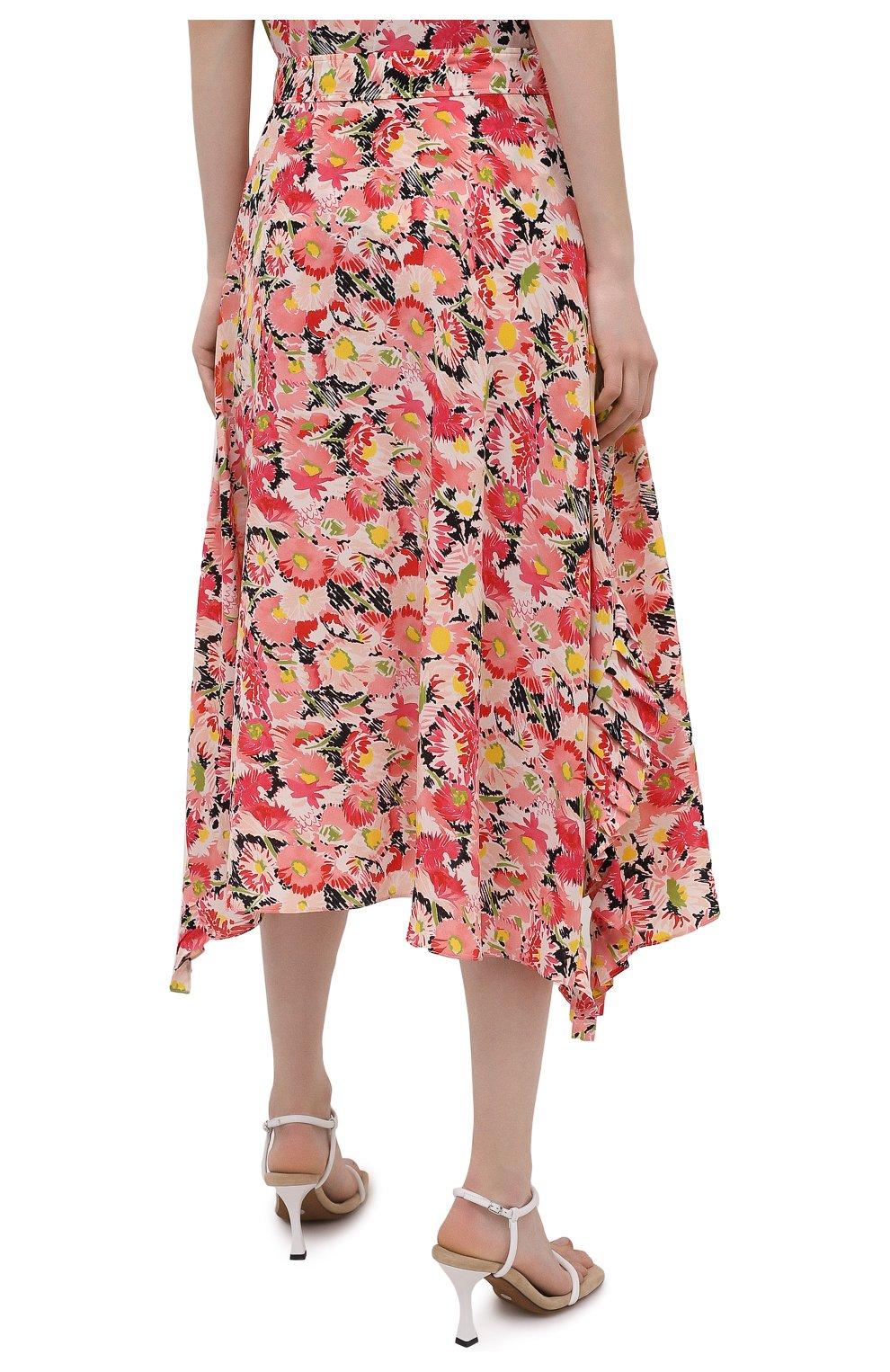 Женская шелковая юбка STELLA MCCARTNEY розового цвета, арт. 602927/SRA27   Фото 4