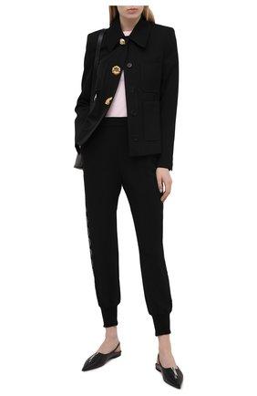 Женские джоггеры из вискозы STELLA MCCARTNEY черного цвета, арт. 602914/SCA06 | Фото 2