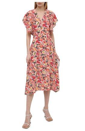 Женская шелковая блузка STELLA MCCARTNEY розового цвета, арт. 602912/SRA27 | Фото 2
