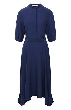 Женское шелковое платье STELLA MCCARTNEY синего цвета, арт. 602910/SY206 | Фото 1
