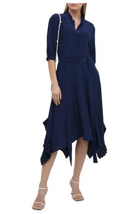 Женское шелковое платье STELLA MCCARTNEY синего цвета, арт. 602910/SY206 | Фото 2