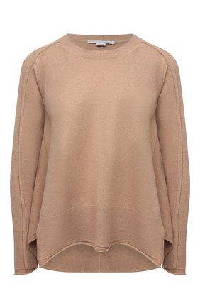 Женский пуловер из кашемира и шерсти STELLA MCCARTNEY бежевого цвета, арт. 602897/S2242 | Фото 1