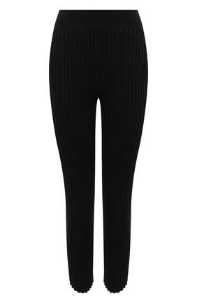 Женские брюки из шерсти и вискозы STELLA MCCARTNEY черного цвета, арт. 602890/S2240 | Фото 1 (Длина (брюки, джинсы): Укороченные; Материал внешний: Шерсть, Вискоза; Женское Кросс-КТ: Брюки-одежда; Силуэт Ж (брюки и джинсы): Узкие; Стили: Кэжуэл)