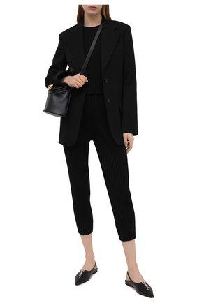 Женские брюки из шерсти и вискозы STELLA MCCARTNEY черного цвета, арт. 602890/S2240 | Фото 2 (Длина (брюки, джинсы): Укороченные; Материал внешний: Шерсть, Вискоза; Женское Кросс-КТ: Брюки-одежда; Силуэт Ж (брюки и джинсы): Узкие; Стили: Кэжуэл)