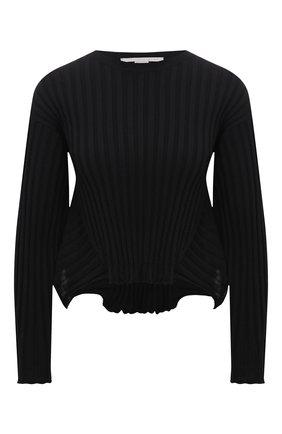 Женский пуловер из шерсти и вискозы STELLA MCCARTNEY черного цвета, арт. 602889/S2240 | Фото 1